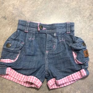 Baby Girl Carhartt shorts size 9 M  -  5 for $25
